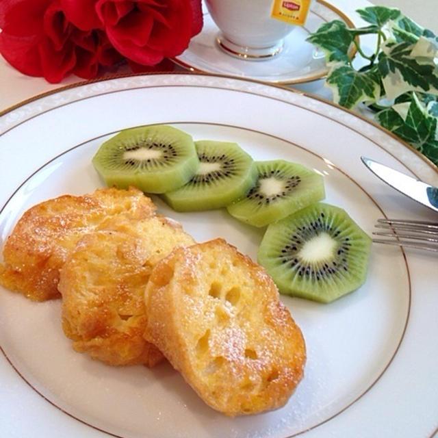 「リプトンひらめき朝食」レンジ1分!バゲットdeフレンチトースト♡*。