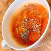 バジルが香るみそスープ