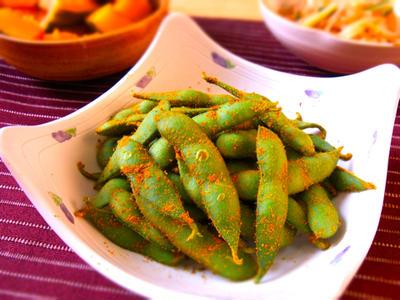 カレー風味の枝豆★