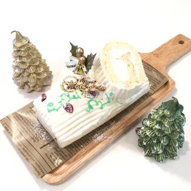 クリスマス★白のブッシュドノエル