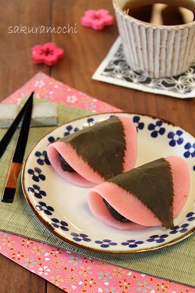 お花見に☆もちもちの桜餅!!