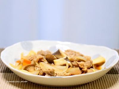 豚肉とエリンギの黒酢炒め&「札幌農学校 焼きたてチーズタルト」