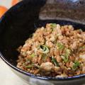 鶏ミンチで スタミナ納豆と海苔巻きバーグ