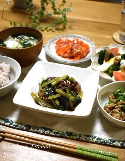 【レシピ】小松菜と肉だんごの甘酢あん♪…もうちょいだー!
