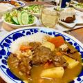 【母の日の晩ごはん】コストコの焼肉用牛肉をたっぷり使ったビーフカレー