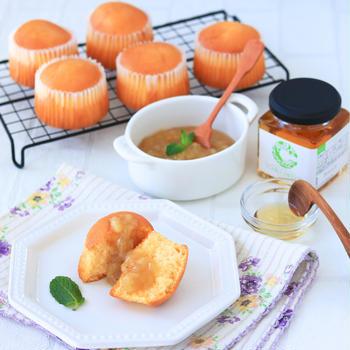 【レシピ】キャロブシロップで作る♪バナナジャムカップケーキ