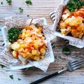 ♡レンジde簡単♡卵とコーンのポテトサラダ♡【#時短#節約#オーロラソース】