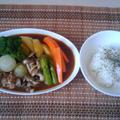 すぐ簡単【デトックス】ゴロゴロ野菜&納豆のスープカレー (ミツカンさん☆金の粒納豆)