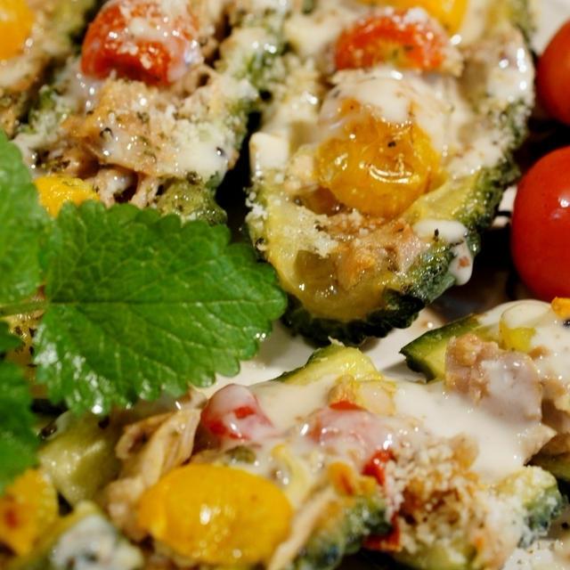 くらしのアンテナ■旬を食べ尽くす!見た目も楽しい「ゴーヤボート」レシピにてご紹介頂きました。