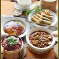 土鍋麻婆豆腐!牛肉と野菜の蒸籠蒸し!海老のカレー春巻き!カニカマ卵!…作りすぎたおうち中華♪