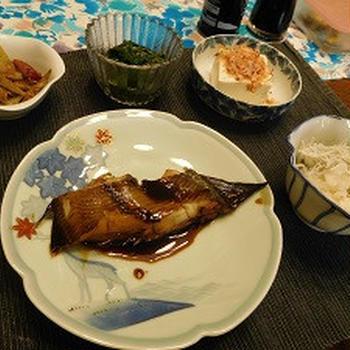 8月末からの晩ご飯  初秋刀魚