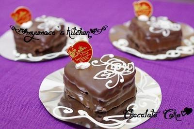 ハートのミニチョコケーキ
