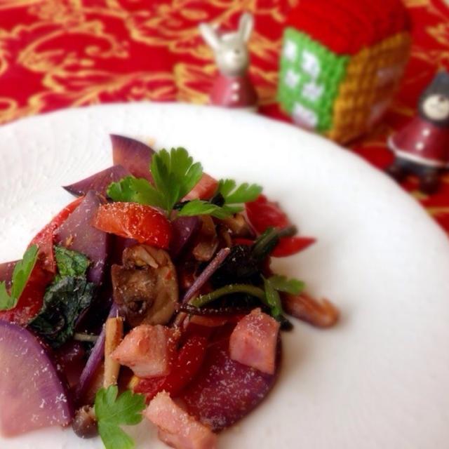 紫野菜の美魔女ソテー