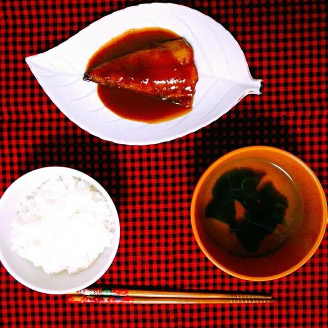 昨日の晩御飯@サバの味噌煮
