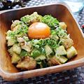ささみとズッキーニのポキ丼風【焼肉のたれで味付け簡単なダイエットメニュー】|レシピ・作り方