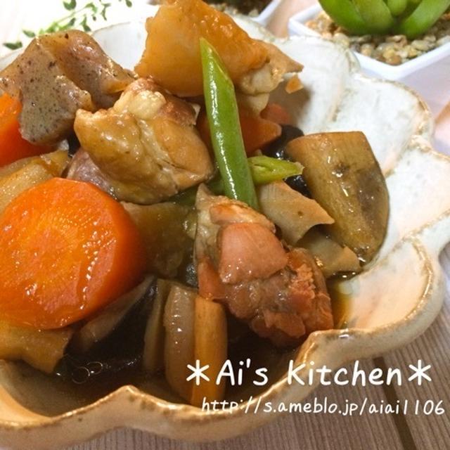 煮るだけ簡単なのに必ず褒められる♡鶏肉と根菜のオイスター煮♡