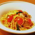 トマトと鶏肉の塩麹ナポリタン