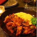 リゾーニと頂く、ハーブ鶏と浅利、オリーブのトマト煮込み~母のレシピ帖から(※レシピあり)