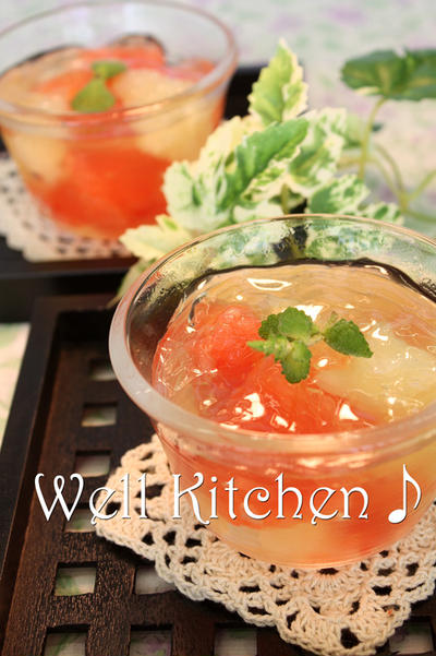 ドッサリ果肉 グレープフルーツ蜂蜜ゼリー