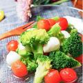 クリスマスに和風の前菜を〜トマトとブロッコリーの浅漬け〜モッツァレラチーズも漬けて