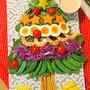 インパクト大!子供と楽しく作れるクリスマスツリーサラダ!