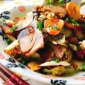 なまり節と春キャベツのペペロンチーノ(キャベツのニンニク炒め)