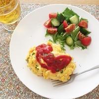 【簡単レシピ】朝10分でチーズオムライス