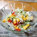 糸寒天とキャベツのサラダ
