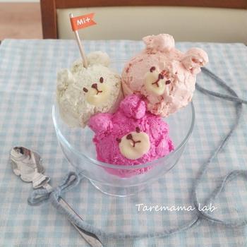 三色のくまちゃんアイス