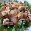 生姜たっぷりが美味しい♪ 豚バラとマッシュルームの生姜醤油炒め by 花ぴーさん