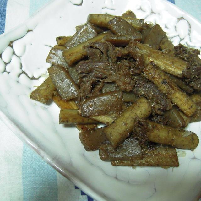 牛肉とごぼうの土佐煮