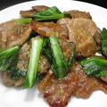 Vegan♪大豆たんぱくと小松菜炒め