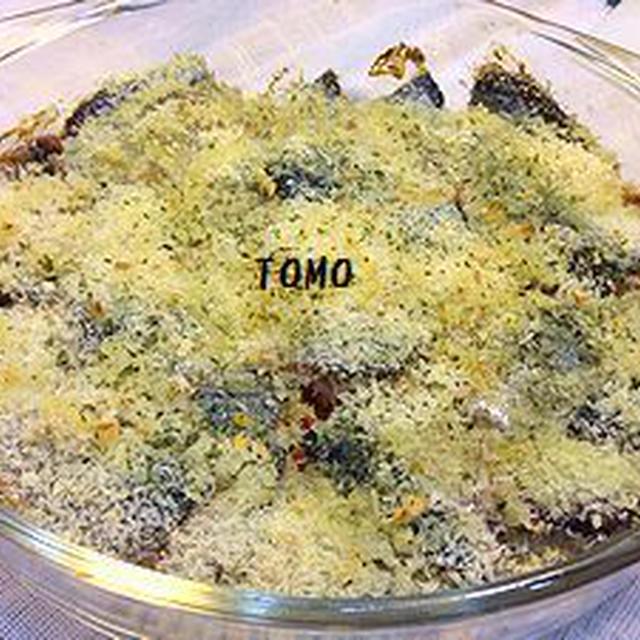 旬のサンマで♪「サンマのパン粉焼き」と「大根の葉と明太子の炒り煮」