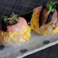 大洲産原木乾しいたけを使って☆しいたけ手まり寿司♡