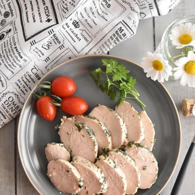 炊飯器で♪イタリアンパセリのサラダチキン