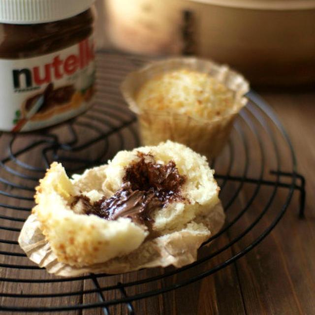 nutella牛乳蒸しパン。