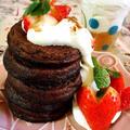 お砂糖なしバナナと卵の粉なしパンケーキ
