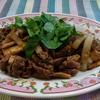 牛肉とエリンギのブラックペパー炒め