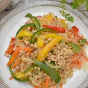 簡単!鶏ひき肉のチャプチェ・レシピ|14年目の結婚記念日