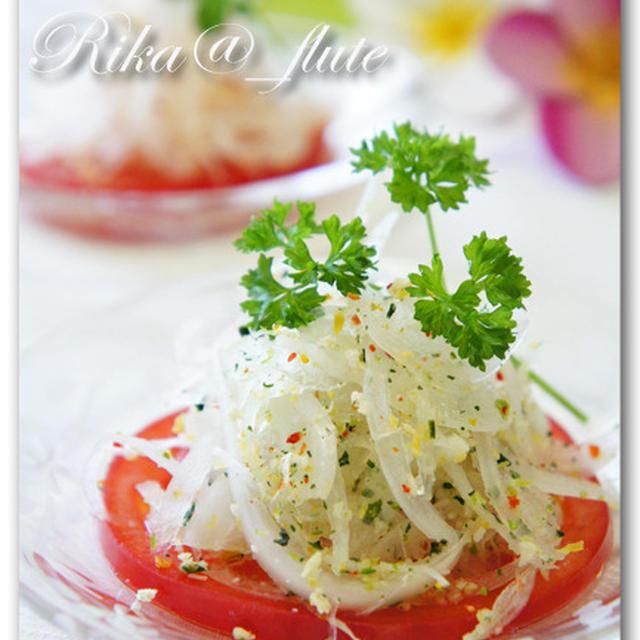 新玉ねぎのカラフルお野菜和えサラダ