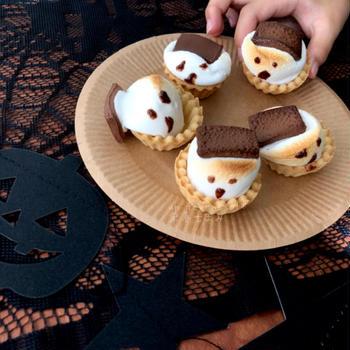 【子供と一緒に簡単ハロウィン】のせて焼くだけ!焼きマシュマロチョコおばけ♡レシピ