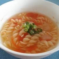 【5分以内レシピ】朝食時に時短スープパスタ