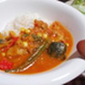 スパイスから作る夏野菜カレー