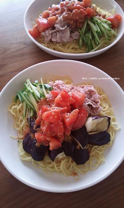 冷凍トマトのコチュジャンダレで冷やし中華~(*´∀`*)とナーサンべんと1週間