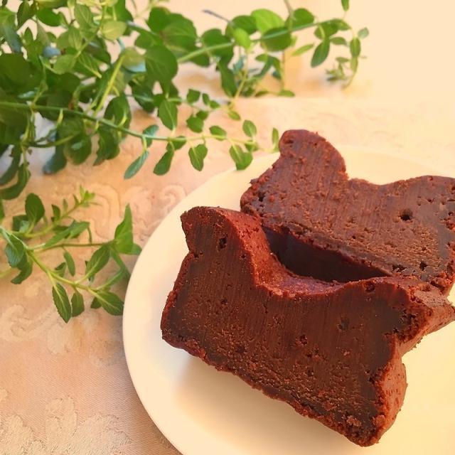 材料4つで簡単♡濃厚生チョコガトーショコラ