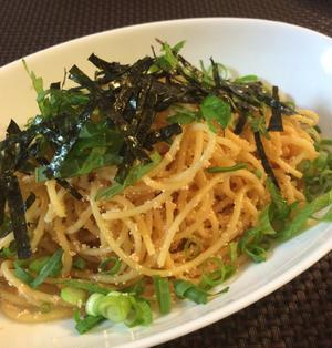 【お弁当向け】麺がひっつかない!火を通す明太子パスタ