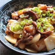 豚肉とかぶの甘辛とろとろ炒め*柚子胡椒風味