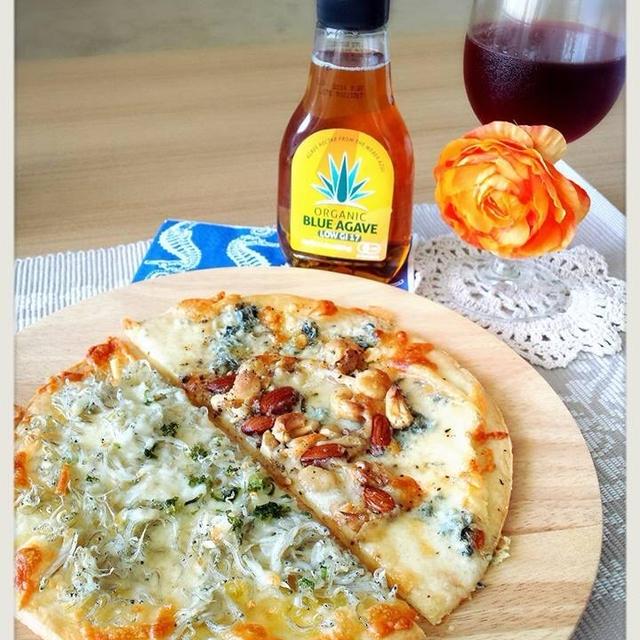 しらすピザとゴルゴンゾーラピザ