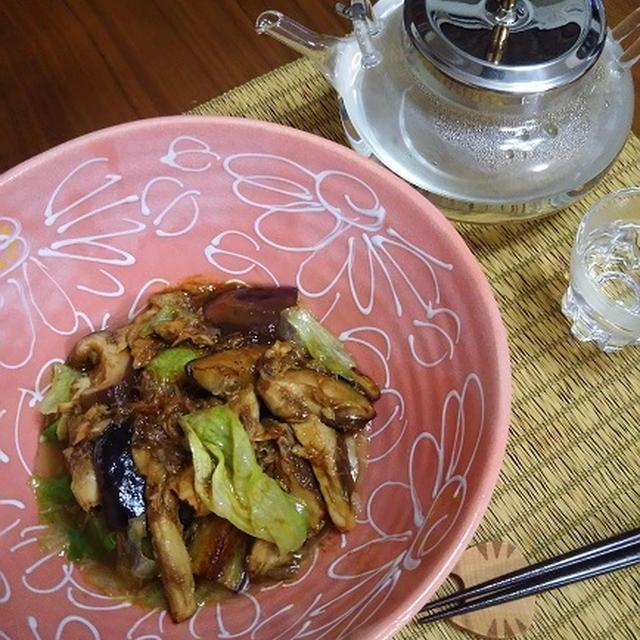 鯖オイル缶&野菜の味噌炒め