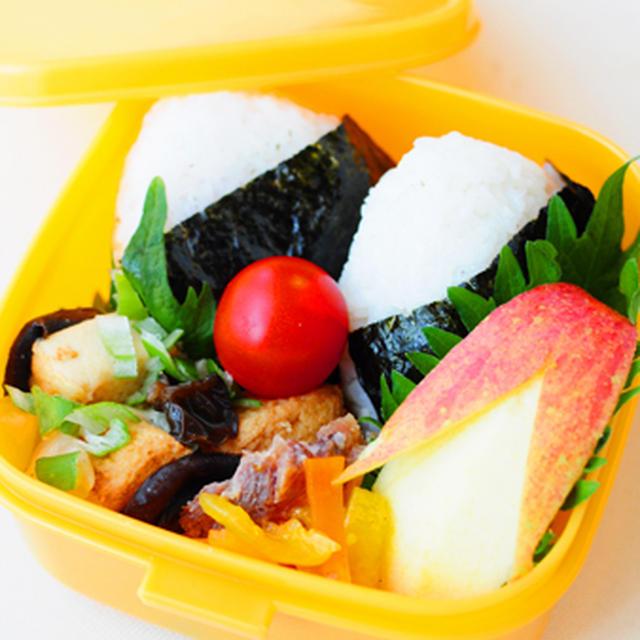 1月19日 土曜日 塩麹ローストポーク山椒風味&海苔むすび